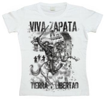 Viva Zapata Tierra Libert Girly T-shirt