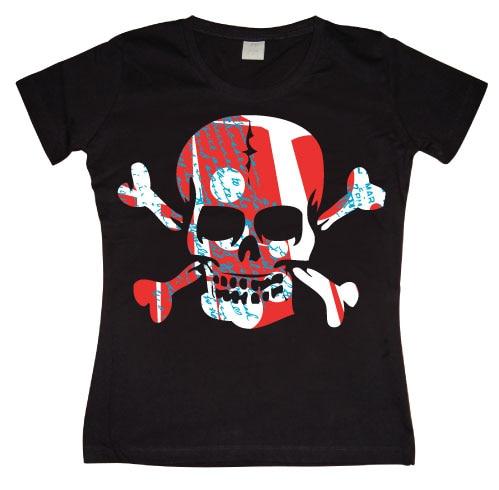 Colorful Skull Girly T-shirt