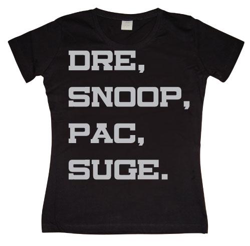 Dre, Snoop, Pac & Suge Girly Tee