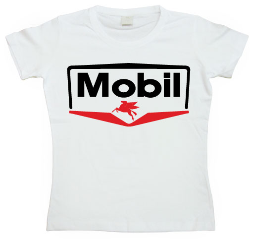 Mobil Logo Girly Tee