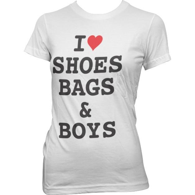 I Love Shoes, Bags & Boys Girly Tee