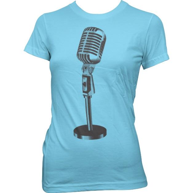 Oldschool Microphone Girly Tee