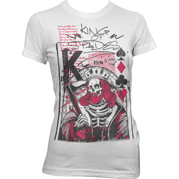 King Of Spades Girly T-Shirt