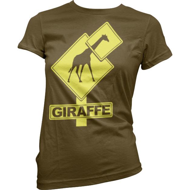 Giraffe Sign Girly T-Shirt