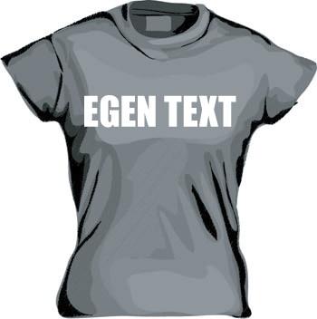 Girly T-shirt med egen text