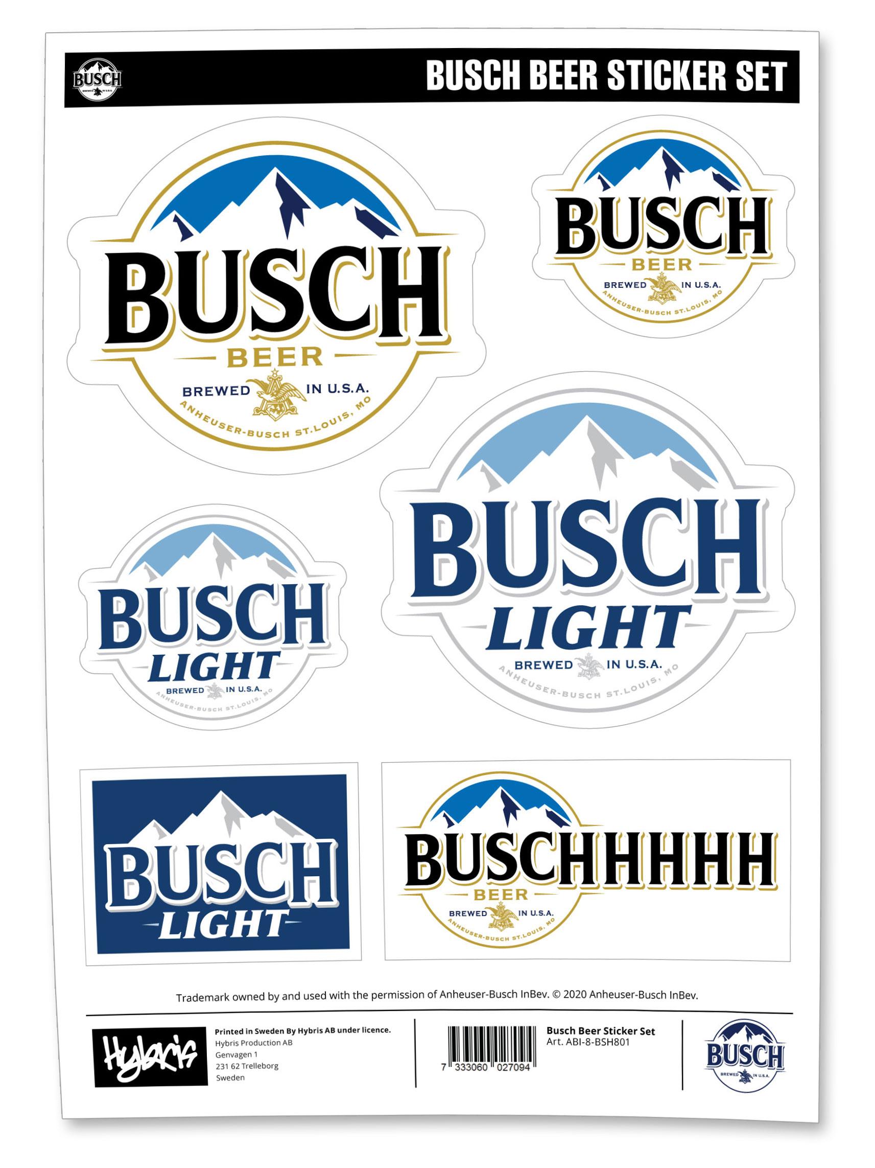 Busch Beer Sticker Set