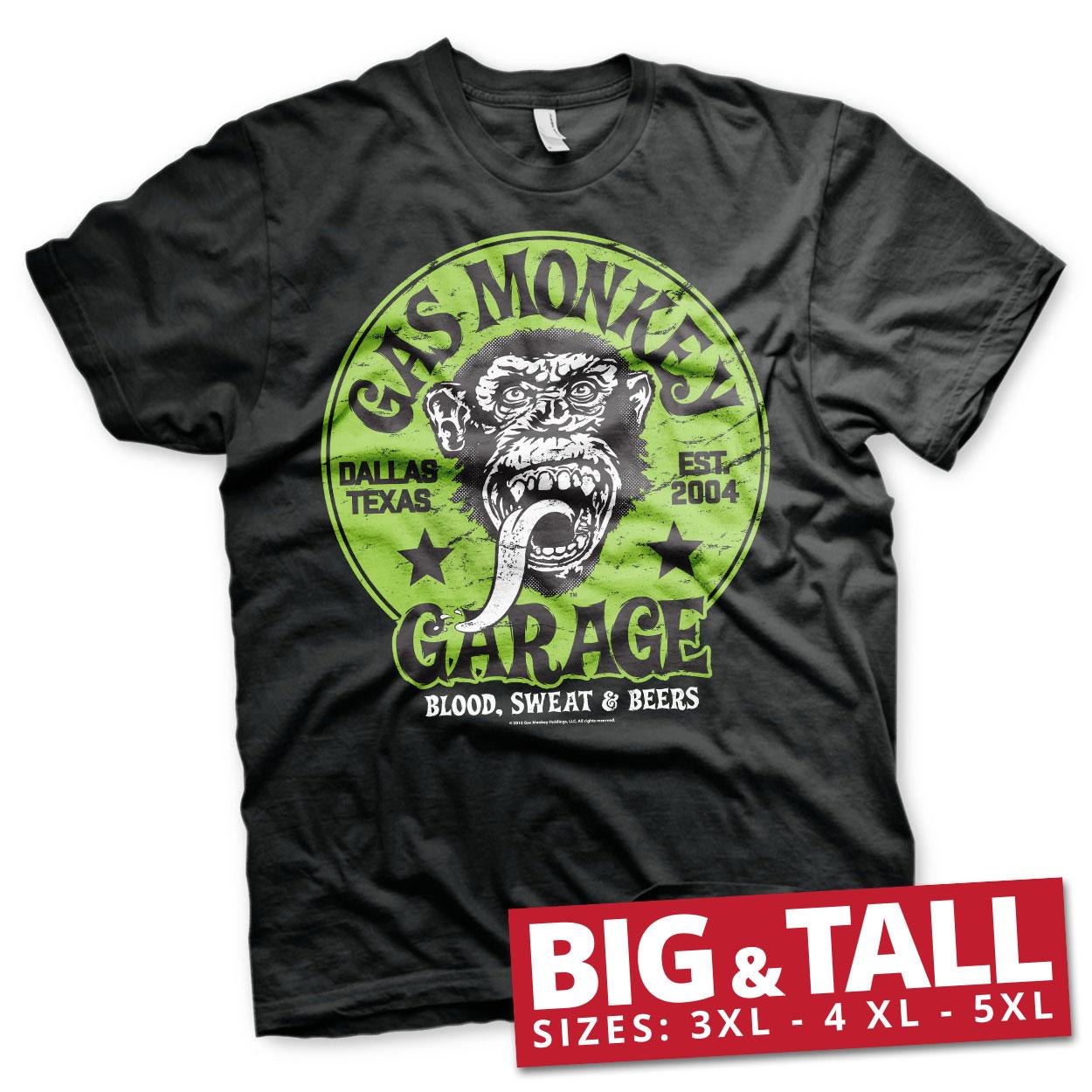 Gas Monkey Garage - Green Logo Big & Tall T-Shirt