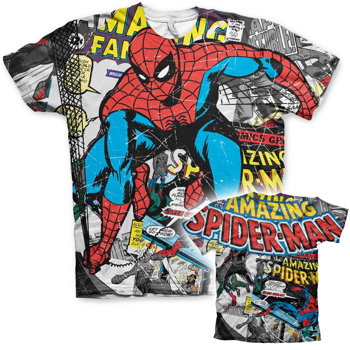 Spider-Man Comic Allover T-Shirt