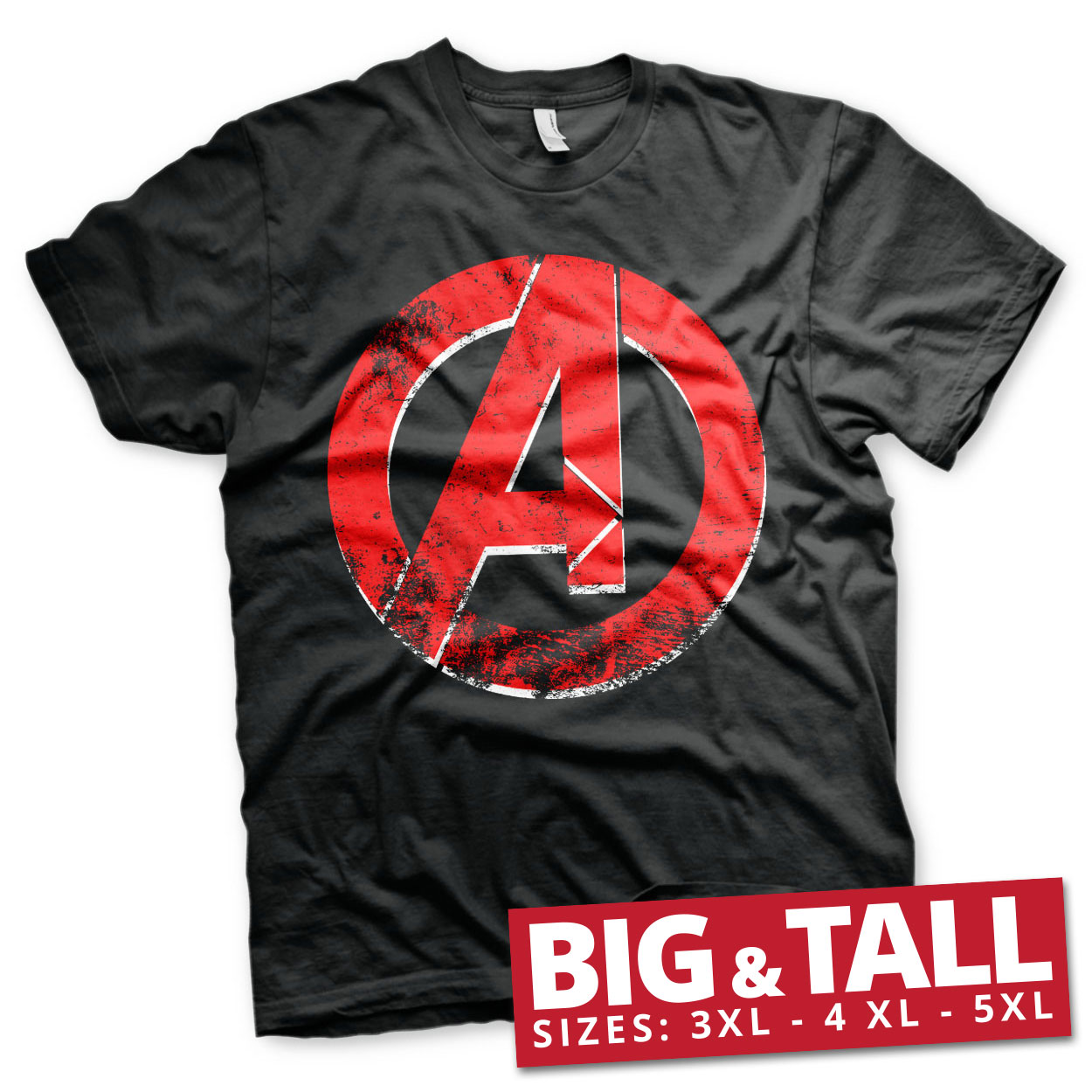The Avengers Distressed A Logo Big & Tall T-Shirt