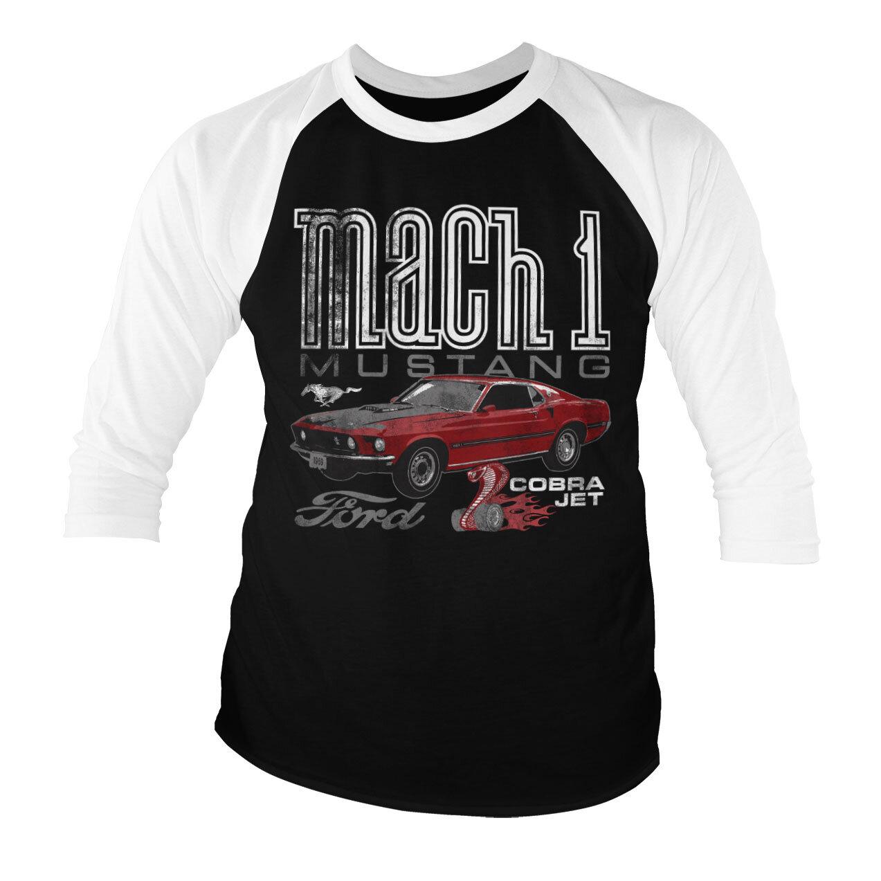 Ford Mach-1 Mustang Baseball 3/4 Sleeve Tee