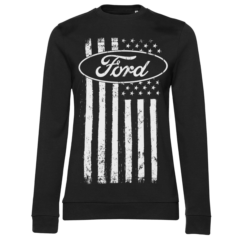 Ford American Flag Girly Sweatshirt