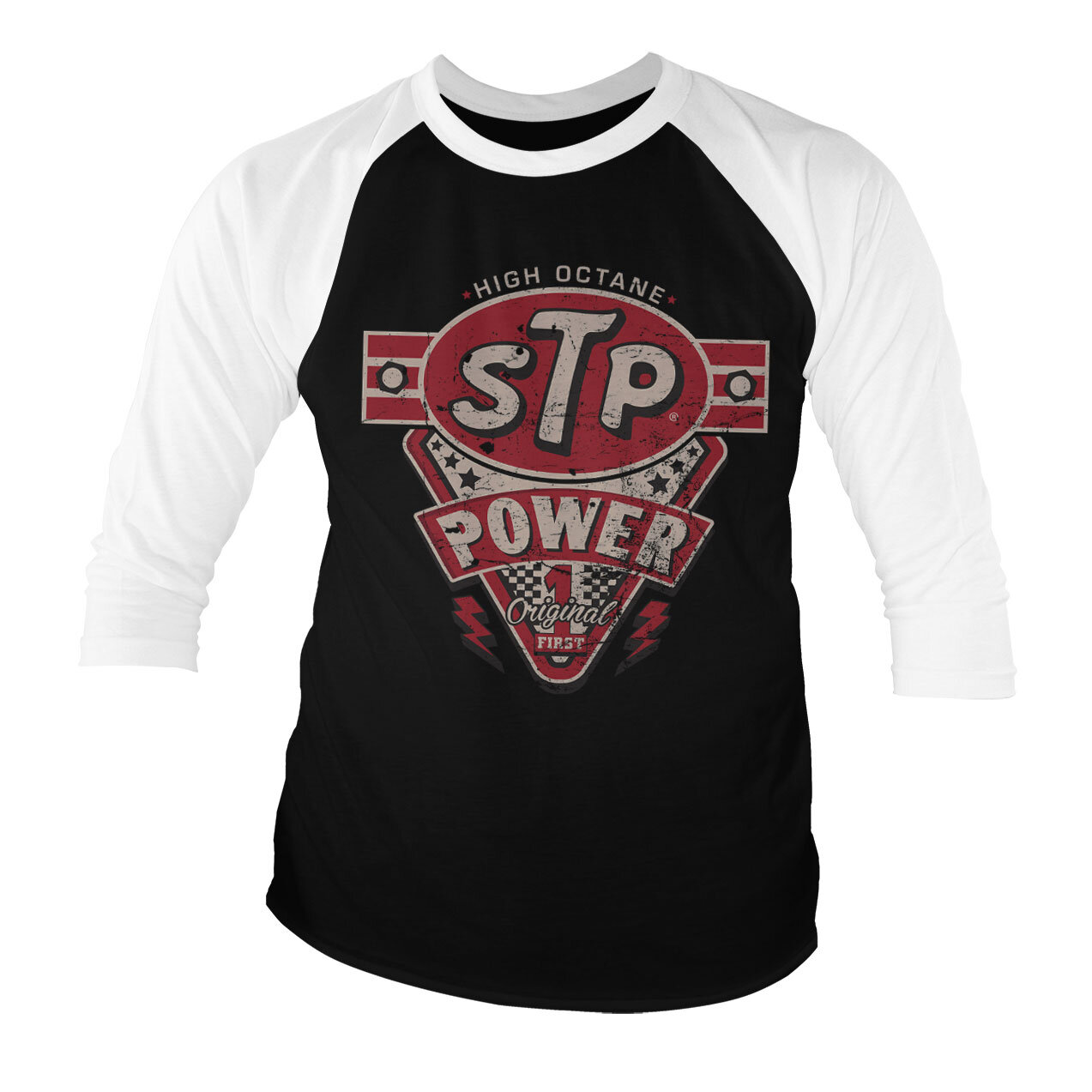 STP Power Baseball 3/4 Sleeve Tee