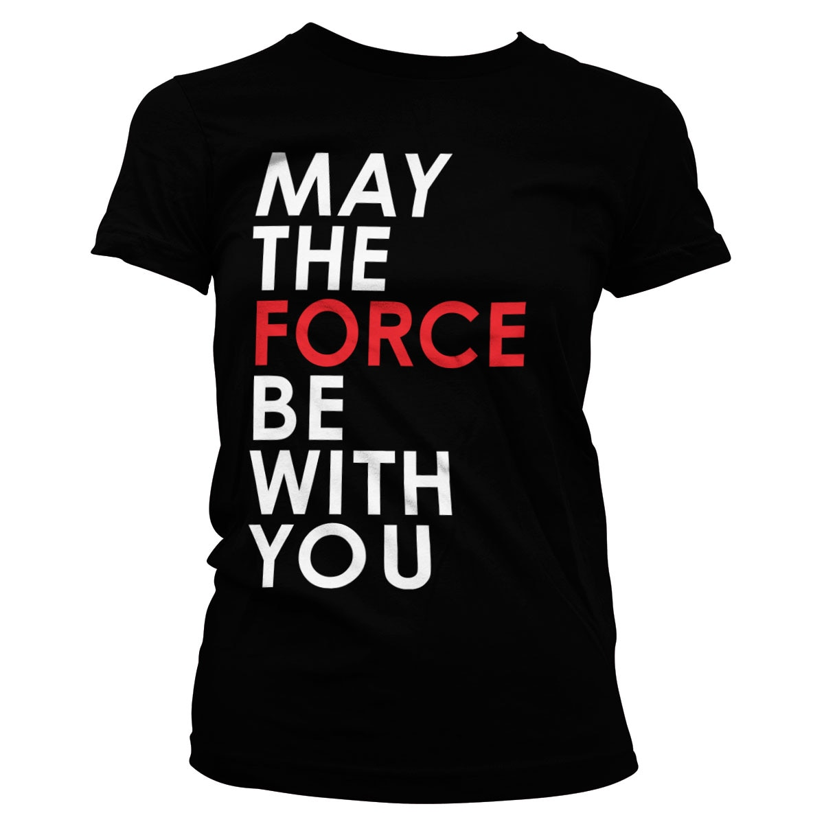 Star Wars - May The Force Be With You Girly Tee