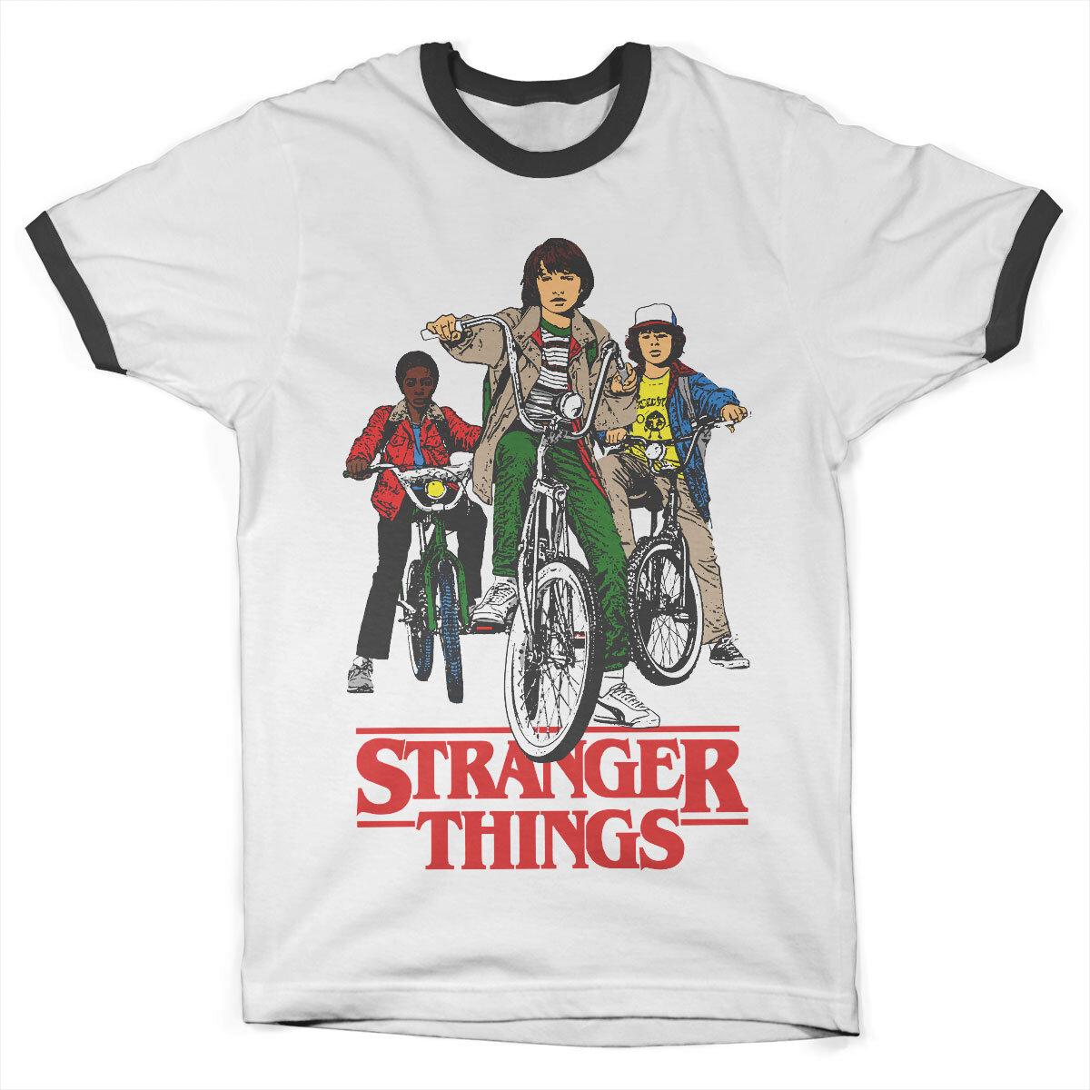 Stranger Things Bikes Ringer Tee