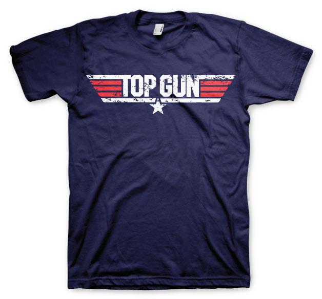 Top Gun Distressed Logo T-Shirt
