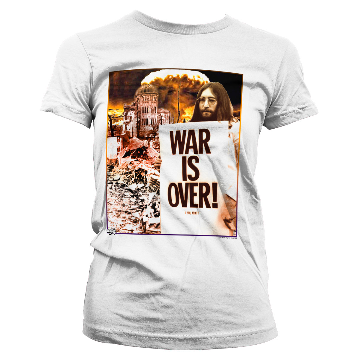 John Lennon - War Is Over Girly Tee