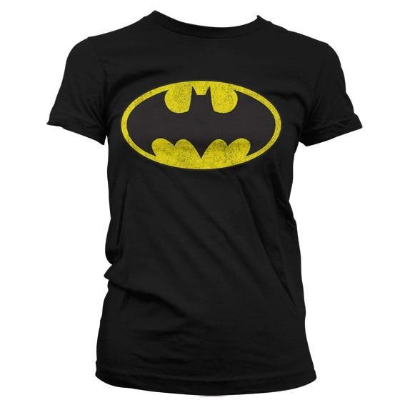 Batman Distressed Logo Girly T-Shirt