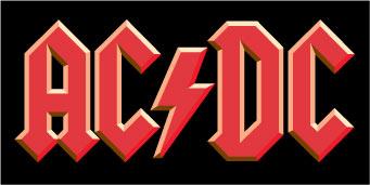 AC/DC Logo sticker.