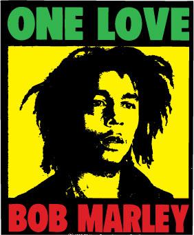 Bob Marley One Love dekal.
