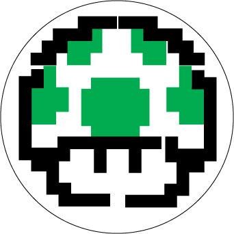 1-Up Mushroom sticker.