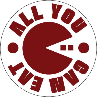 All You Can Eat sticker.