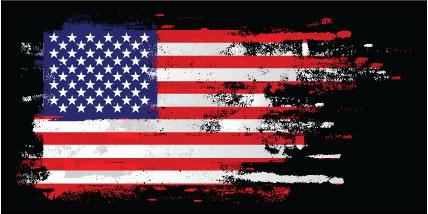 American Flag sticker.
