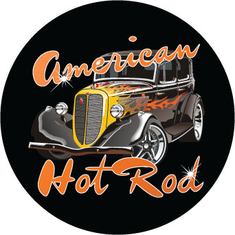 American Hot Rod sticker.