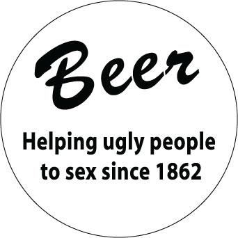 Beer, helping people.... sticker.