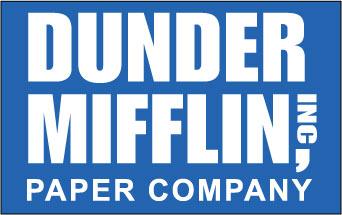 Dunder Mifflin CO sticker.