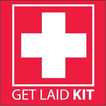 Get Laid Kit sticker.