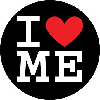 I Love Me sticker.