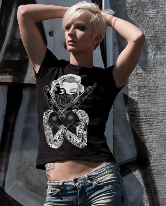 Marilyn Monroe Gangsta Pose Girly T-Shirt