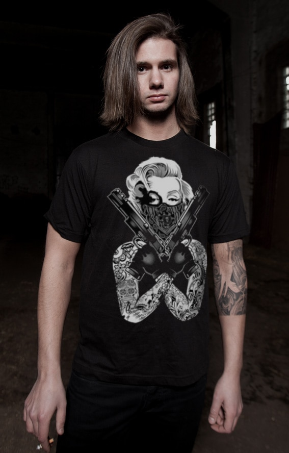 Marilyn Monroe Gangsta Pose T-Shirt