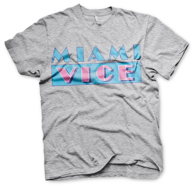 Miami Vice Distressed Logo T-Shirt