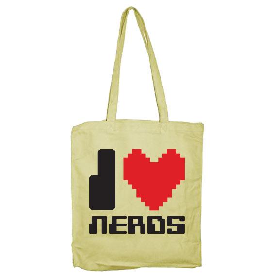 I Love Nerds Tote Bag