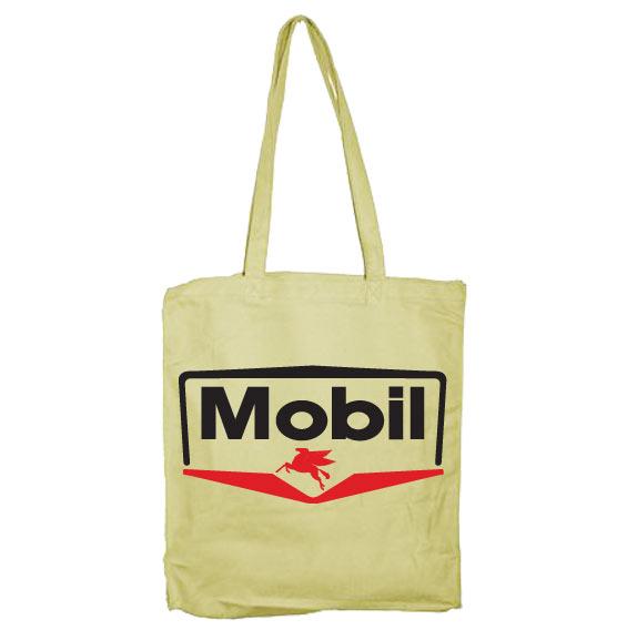 Mobil Logotype Tote Bag