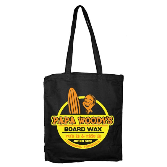Papa Woodys Board Wax Tote Bag