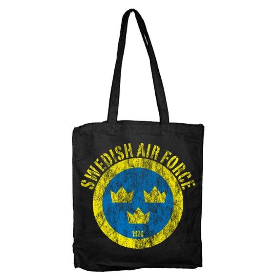 Swedish Airforce Distressed Tote Bag