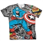 Captain America Comic Allover T-Shirt