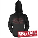 Star Wars - The Last Jedi Logo Black Big & Tall Hoodie