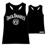 Jack Daniels Chest Logo Girly Tank