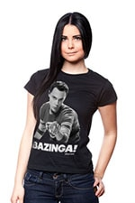 Sheldon Says BAZINGA! Girly T-Shirt